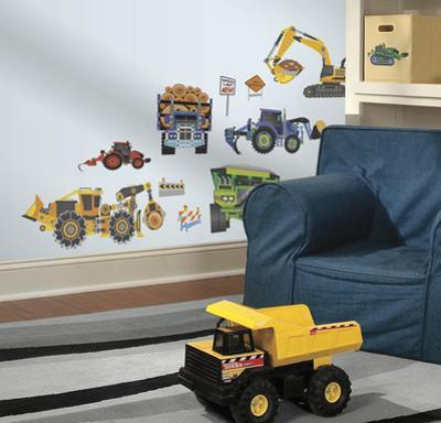 New Speed Limit Construction Vehicles Peel & Stick Wall Decals