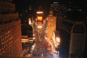 New Years Eve Crowd in times Square