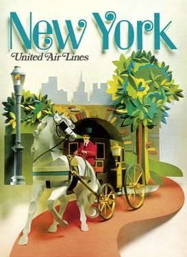 New York - Central Park Horse Drawn Carriage - United Air Lines