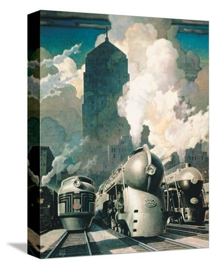 New York Central System--Stretched Canvas Print
