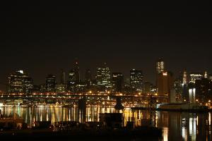 New York City Brooklyn and Manhattan Bridges Photo Print Poster