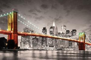 New York City- Brooklyn Bridge At Night