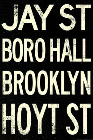 New York City Brooklyn Jay St Vintage RetroMetro Subway Plastic Sign