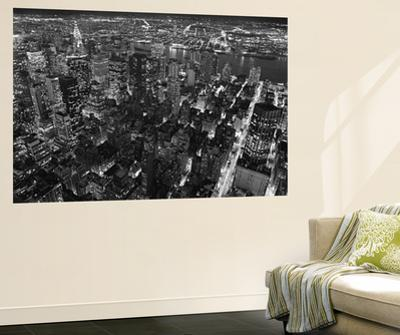 New York City Empire State Building Facing East by Henri Silberman Mural