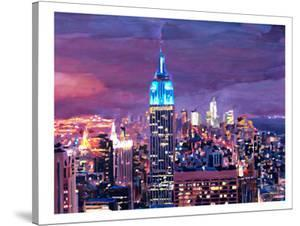 New York City - Empire State Building Feeling Like A Blue Giant by M Bleichner