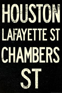 New York City Houston Chambers Vintage RetroMetro Subway Plastic Sign