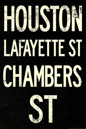 New York City Houston Chambers Vintage Subway Poster