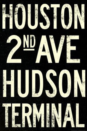 New York City Houston Hudson Vintage Subway RetroMetro Plastic Sign