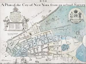 New York City Map, 1728