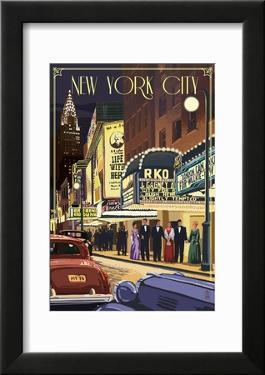 New York City  New York - Theater Scene