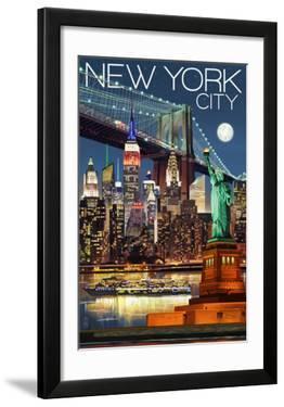 New York City  NY - Skyline at Night