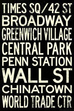 New York City Subway Style Vintage RetroMetro Travel