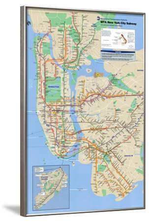 New York City Subway--Framed Poster