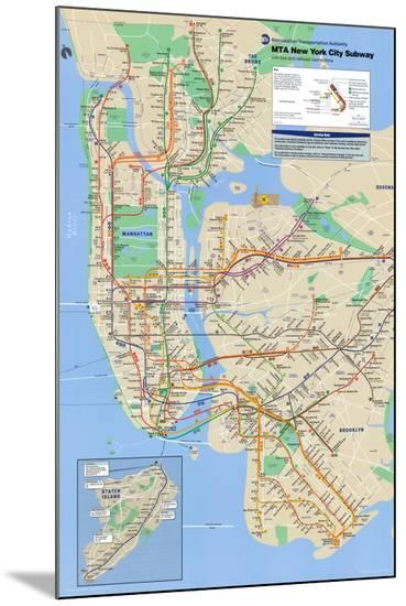 New York City Subway--Mounted Print