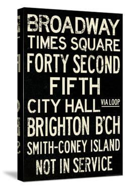 New York City Times Square  Vintage Subway Travel Poster