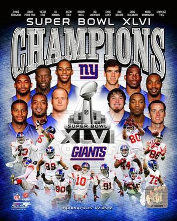 New York Giants Super Bowl XLVI Champions Composite