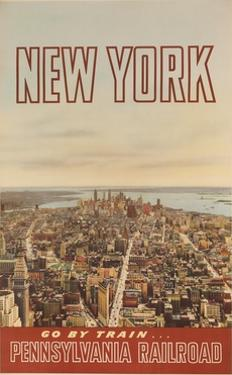 New York Go by Train, Pennsylvania Railroad Travel Poster