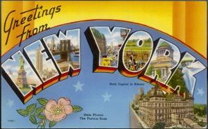 New York: Greetings Card Showing a Range of Views