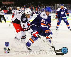 New York Islanders,New York Rangers Thomas Vanek & Dan Girardi 2014 NHL Stadium Series Action