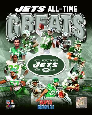 New York Jets All Time Greats Composite