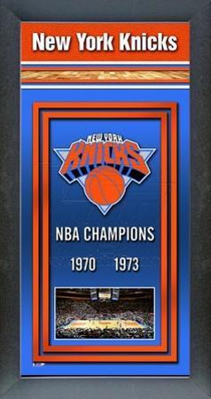 New York Knicks Framed Championship Banner
