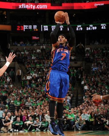 New York Knicks v Boston Celtics - Game One, Boston, MA - April 17: Carmelo Anthony