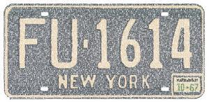 New York License Plate Cities Text Art Print Poster
