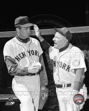 New York Mets - Casey Stengel, Roger L. Craig Photo