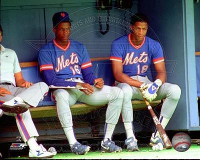 New York Mets - Darryl Strawberry, Dwight Gooden Photo