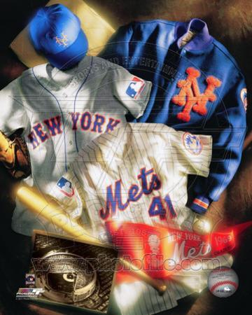 New York Mets - New York Mets Cooperstown Collage