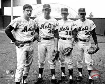New York Mets - Nolan Ryan, Jerry Koosman, Tom Seaver, Gary Gentry Photo