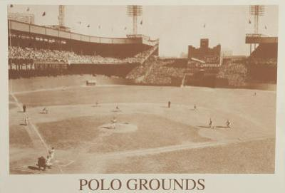 New York Polo Grounds Vintage B&W Photo Sports Poster Print