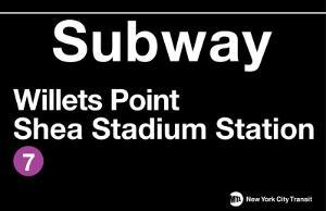 New York- Shea Stadium Metal Sign