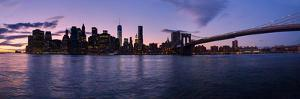 New York Skyline from Brooklyn, New York City, New York State, Usa 2014