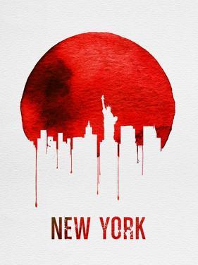 New York Skyline Red