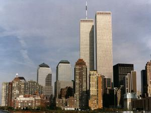 New York Skyline with World Trade Centre Building USA, 1997