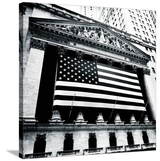 New York Stock Exchange-Josef Hoflehner-Stretched Canvas Print