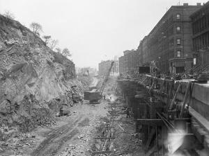 New York Subway Construction 129Th St.