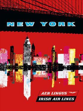 New York, USA Aer Lingus Irish Air Lines - Manhattan Skyline