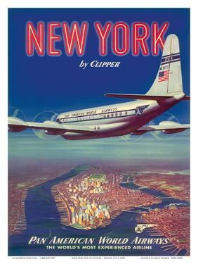 New York USA by Clipper Pan American Airways - Boeing 377