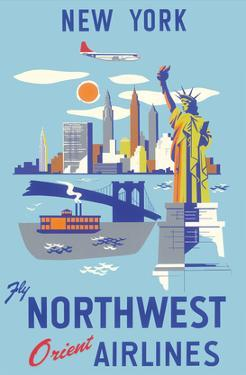 New York, USA, Manhattan, Fly Northwest Orient Airlines
