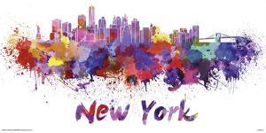 New York- Watercolors Inundation