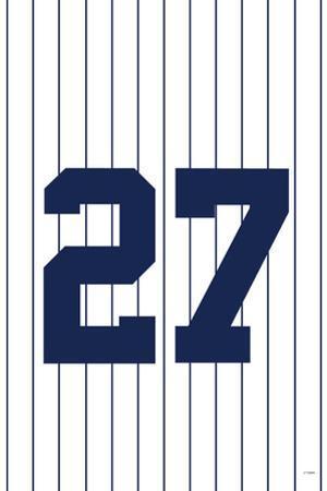 New York Yankees (27 World Series) Sports Poster Print