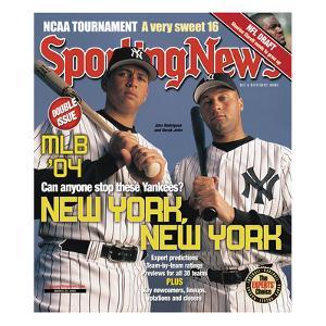 New York Yankees Alex Rodriguez and Derek Jeter - March 29, 2004