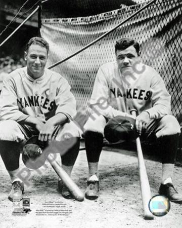 New York Yankees - Babe Ruth, Lou Gehrig Photo