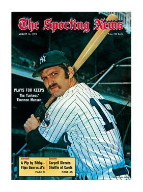 New York Yankees Catcher Thurman Munson - August 18, 1973