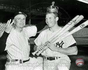 New York Yankees - Mickey Mantle, Casey Stengel Photo