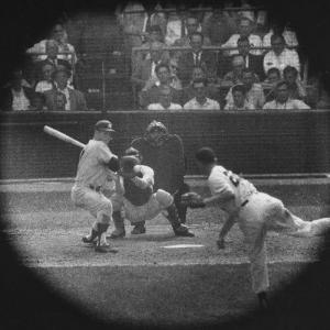 New York Yankees Player Mickey Mantle, Batting During Game