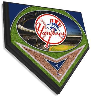New York Yankees Team Logo Home Plate Plaque
