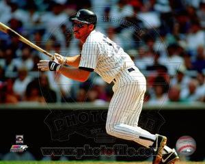 New York Yankees Wade Boggs 1993 Batting Action
